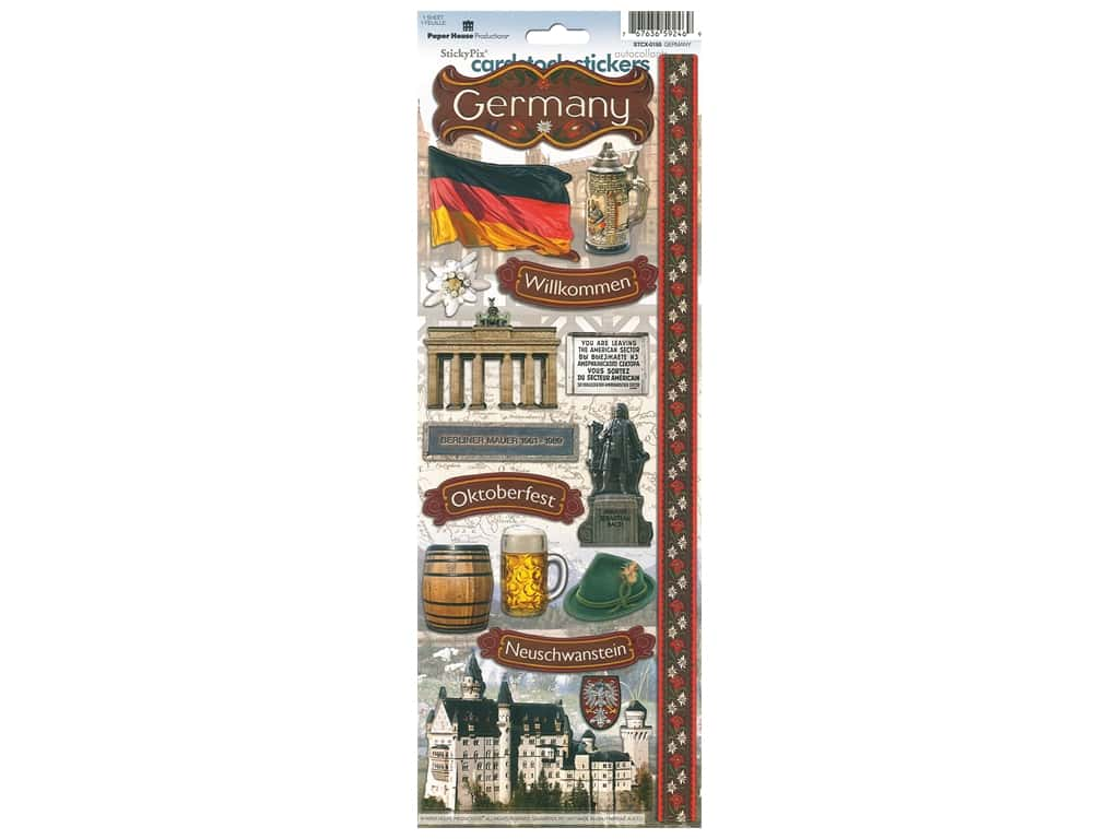Paper House Sticker Cardstock Germany