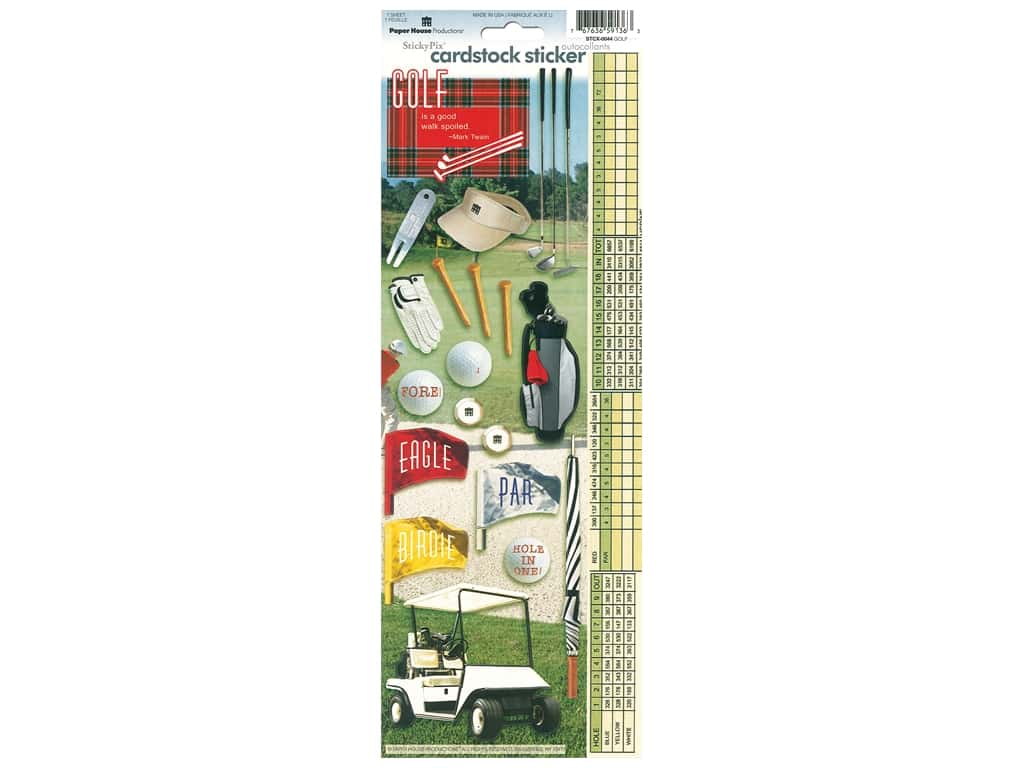 Paper House Sticker Cardstock Golf