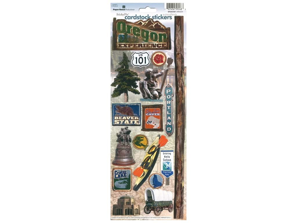 Paper House Sticker Cardstock Oregon