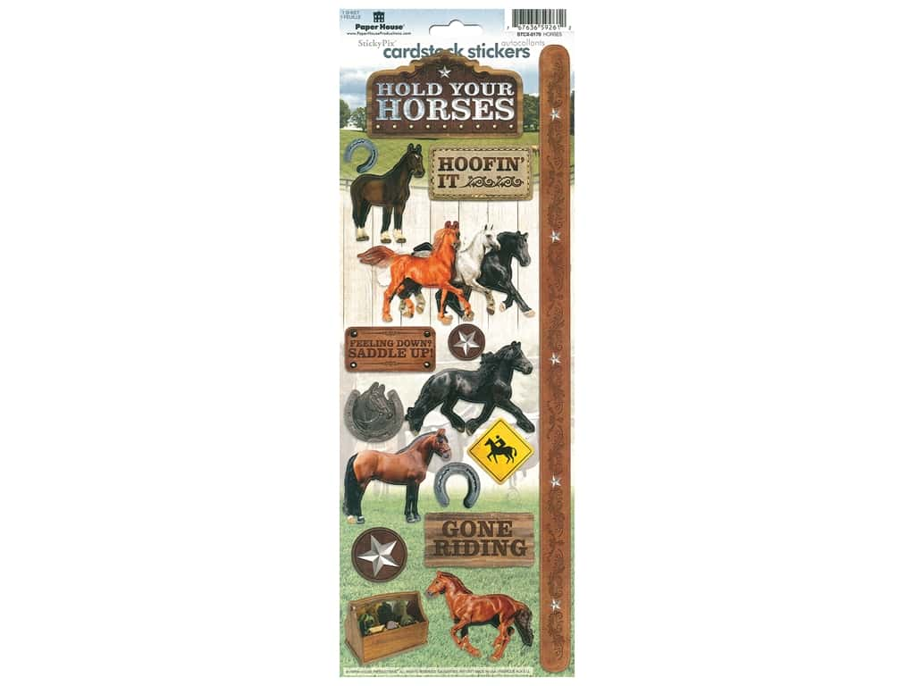 Paper House Cardstock Stickers - Horses