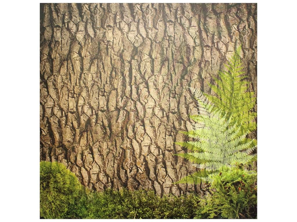 Paper House Paper 12 in. x 12 in. Tree Bark (25 pieces)