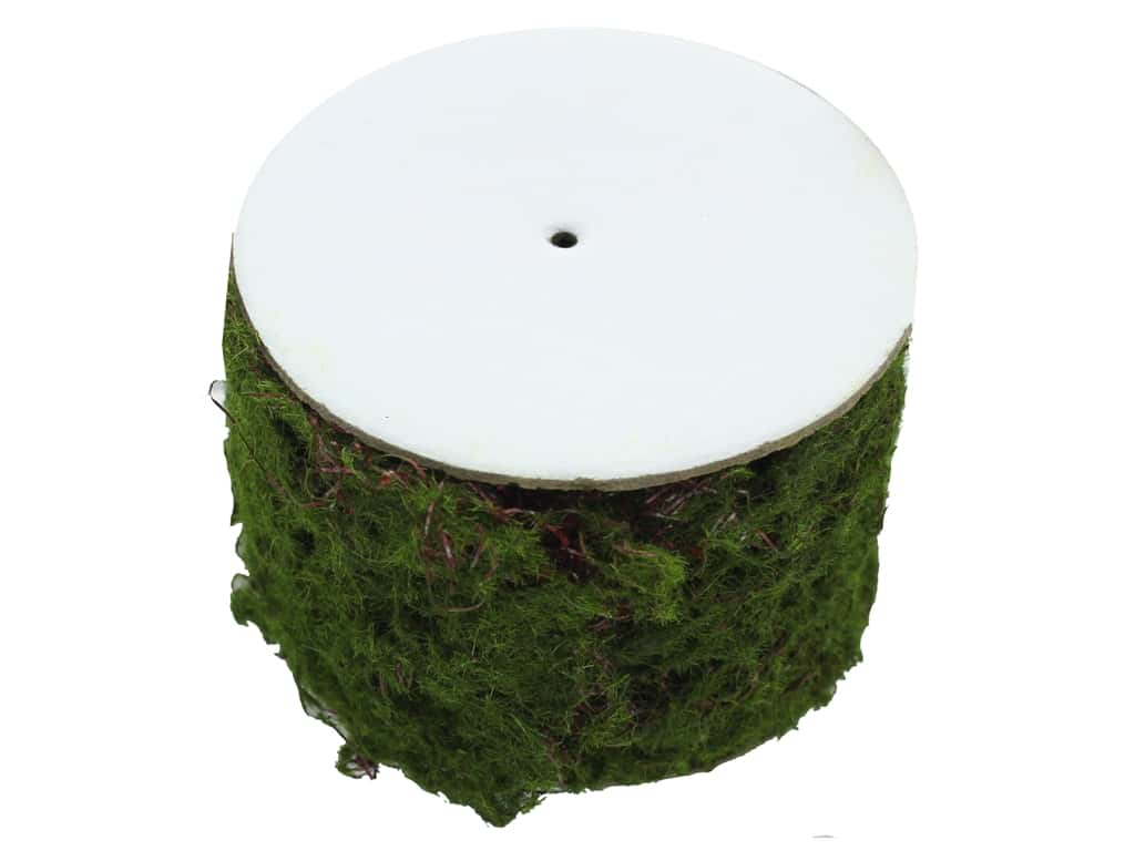 Darice Floral Faux Moss Covered Wire Roll 2.5 in. x 30 in.