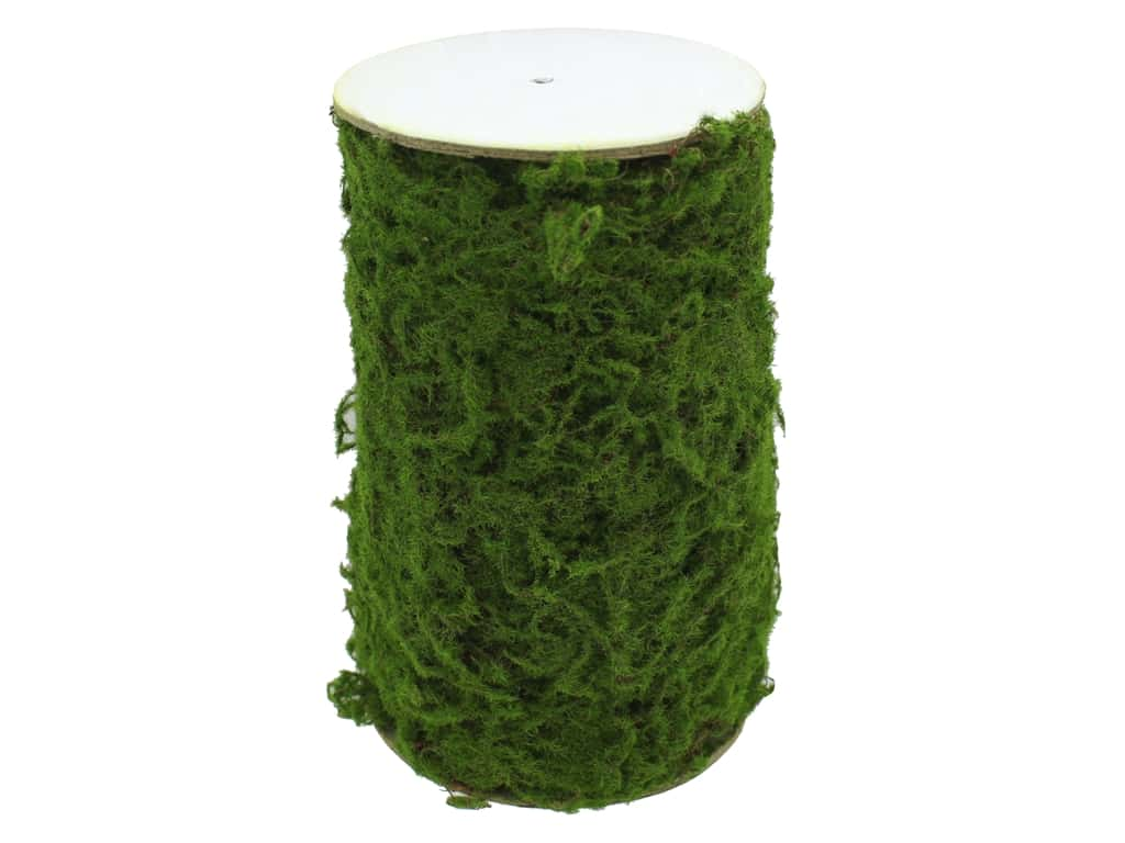 Darice Floral Faux Moss Covered Wire Roll 6 in. x 30 in.