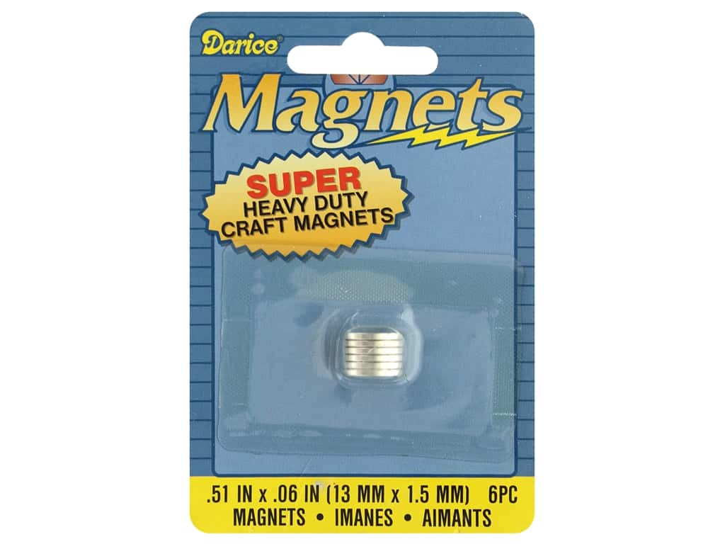 Darice Magnet Heavy Duty .51 in. Round 6 pc