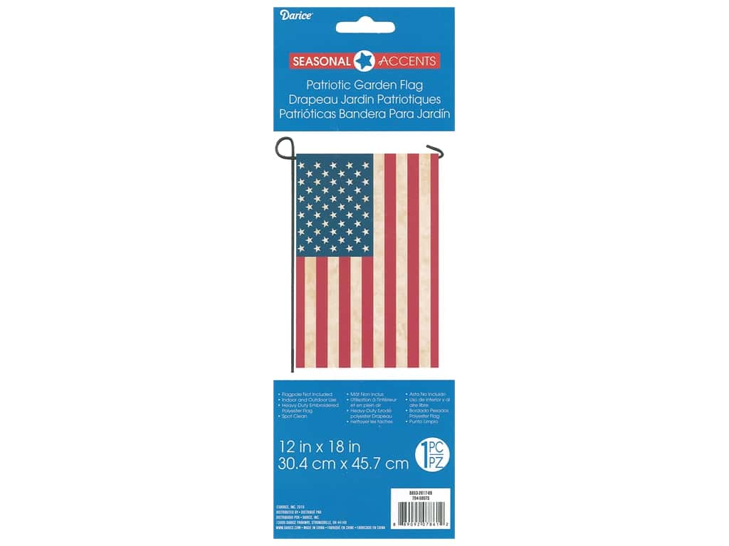 Darice Tea Stained USA Mini Garden Flag 12 x 18 in.