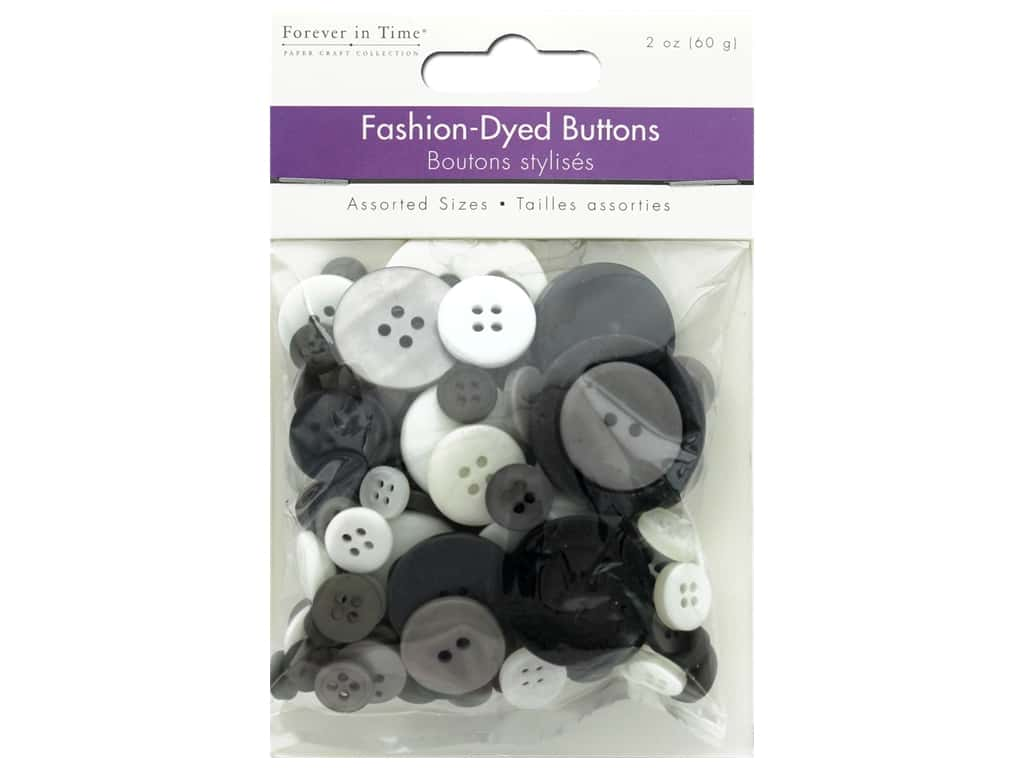 Multicraft Buttons Fashion Dyed Medley