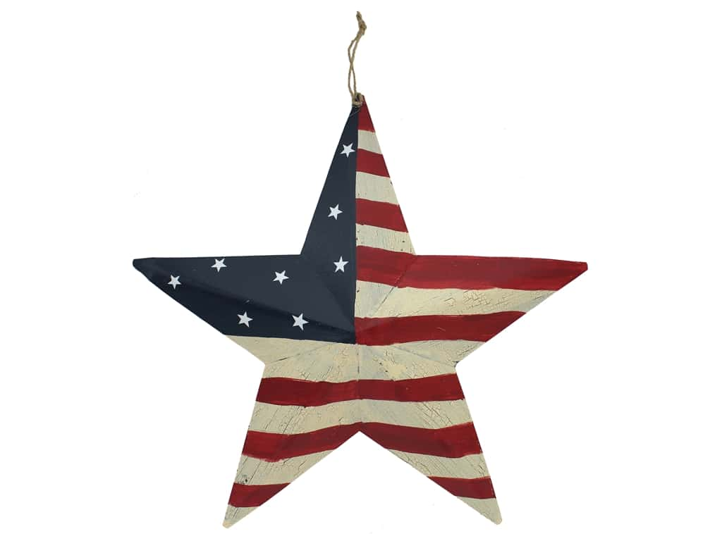 Darice Patriotic USA Barn Star 16 in.