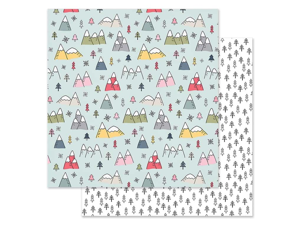 Simple Stories Collection Freezin Season Paper 12 in. x 12 in. Snowed In (25 pieces)