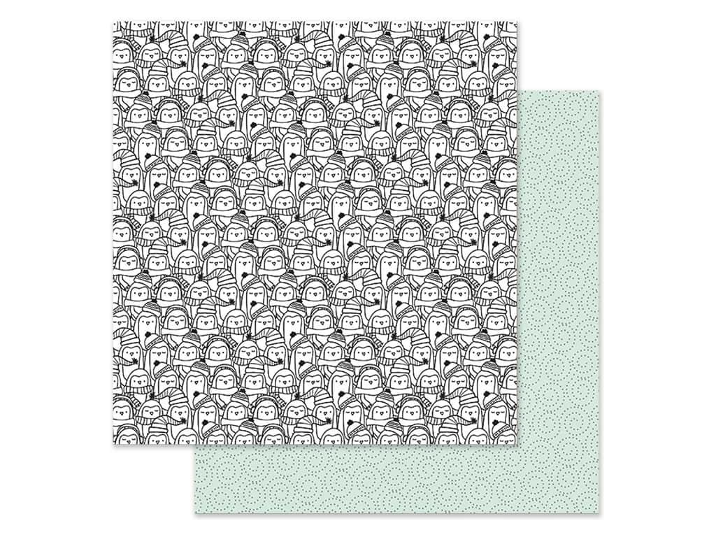 Simple Stories Collection Freezin Season Paper 12 in. x 12 in. Snuggle Up (25 pieces)