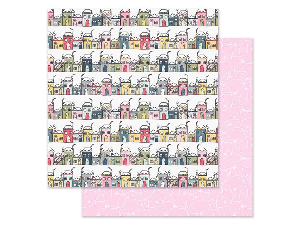 Simple Stories Collection Freezin Season Paper 12 in. x 12 in. Hello Winter (25 pieces)