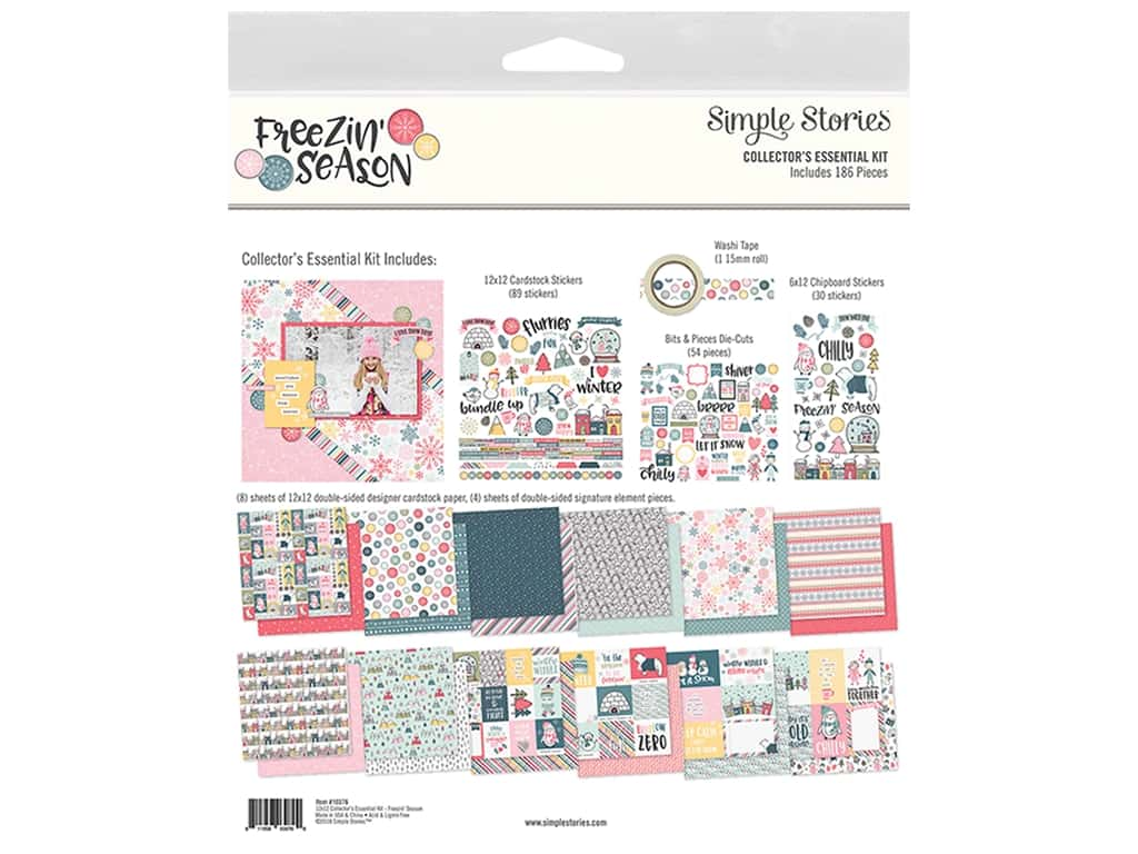 Simple Stories Collection Freezin Season Collector's Essential Kit