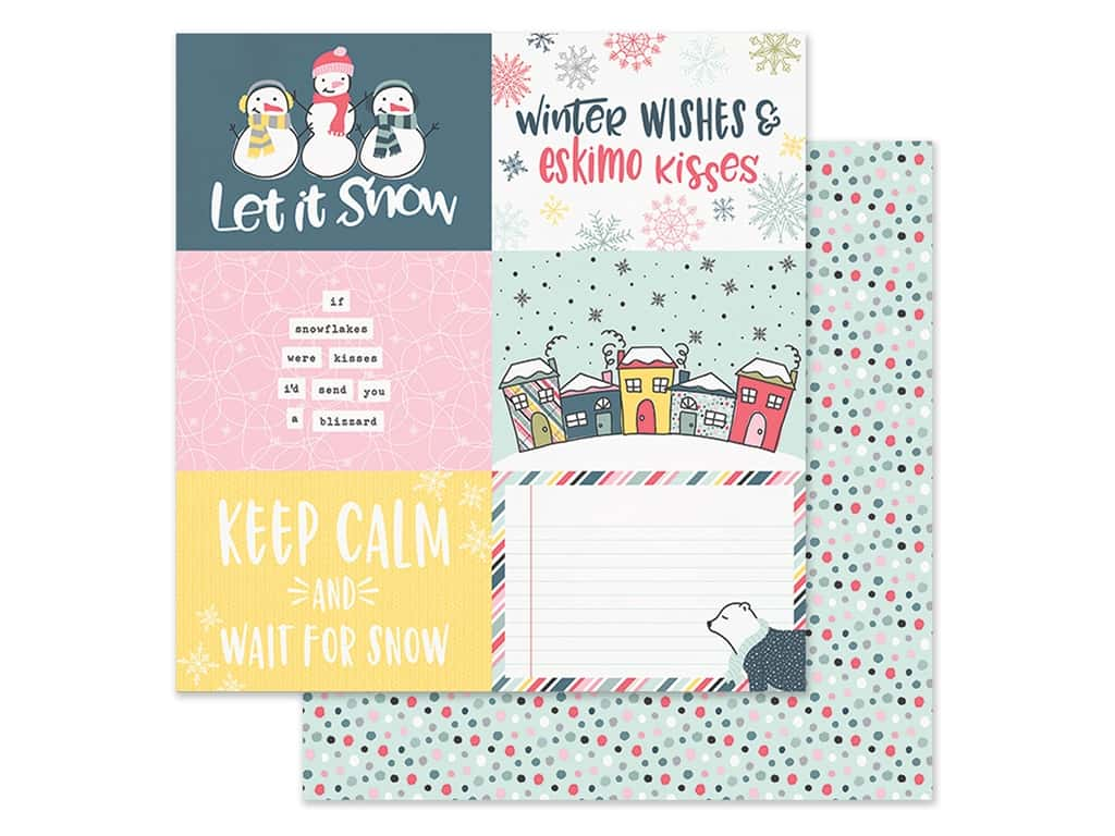 Simple Stories Collection Freezin Season Paper 12 in. x 12 in. Elements Horizontal 4 in. x 6 in. (25 pieces)