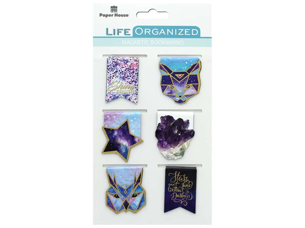 Paper House Collection Life Organized Magnetic Bookmark Stargazer