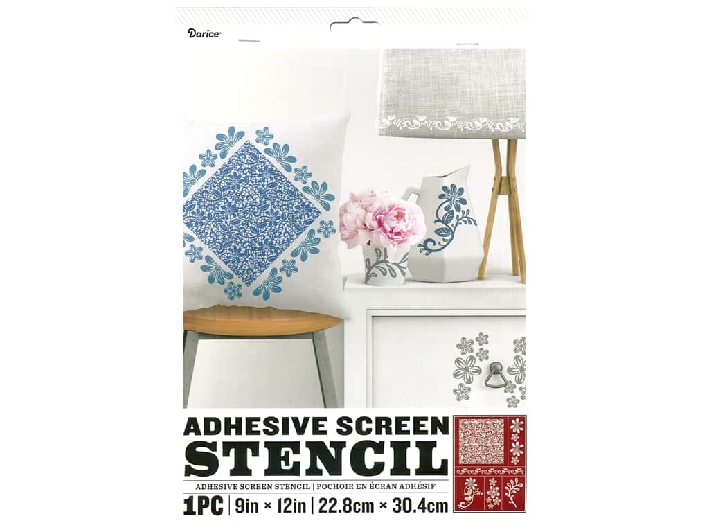 Darice Adhesive Screen Stencil 9 x 12 in. Lace