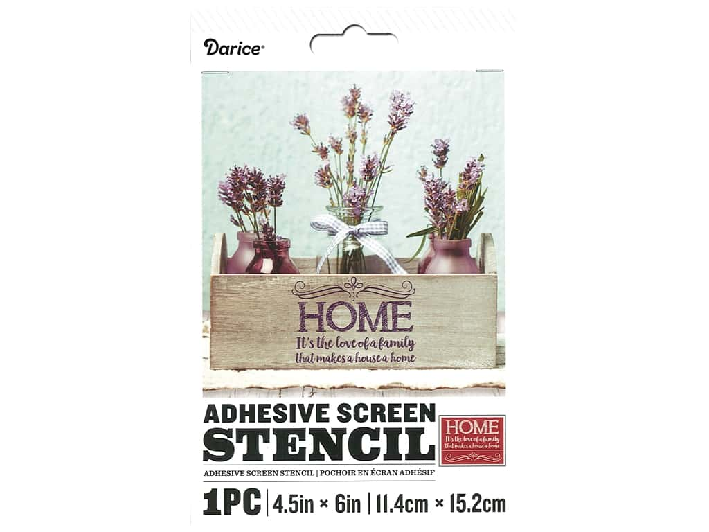 Darice Adhesive Screen Stencil 4 1/2 x 6 in. Love Of Family