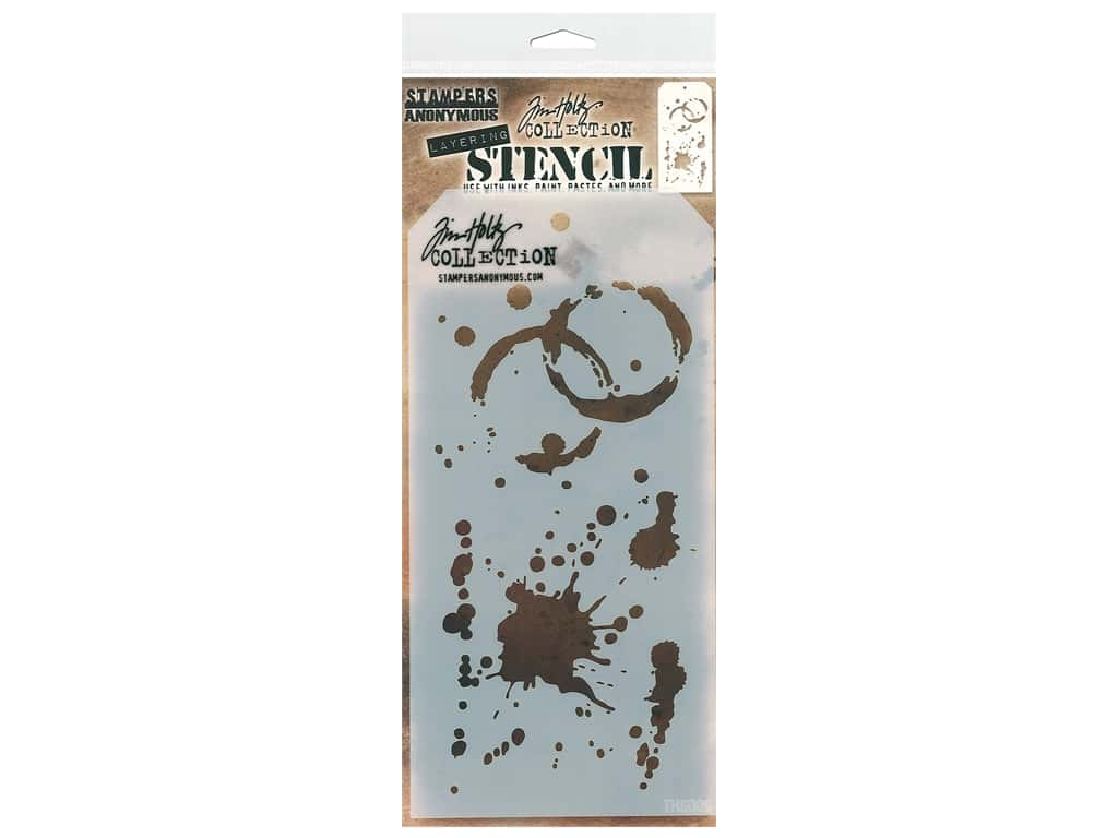 Stampers Anonymous Tim Holtz Layering Stencil - Splatters