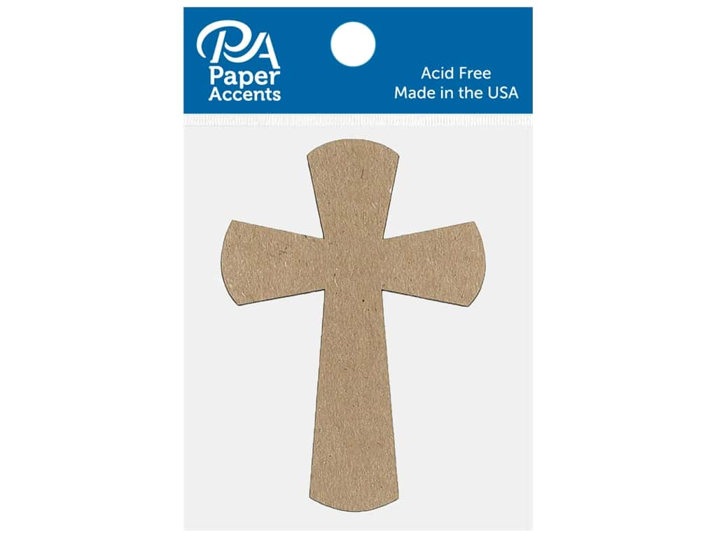 Paper Accents Chip Shape Cross Natural 8 pc