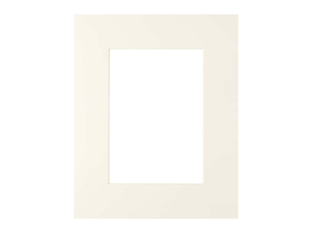 PA Framing Pre-cut Photo Mat Board Cream Core 8 x 10 in. for 5 x 7 in. Photo Ivory