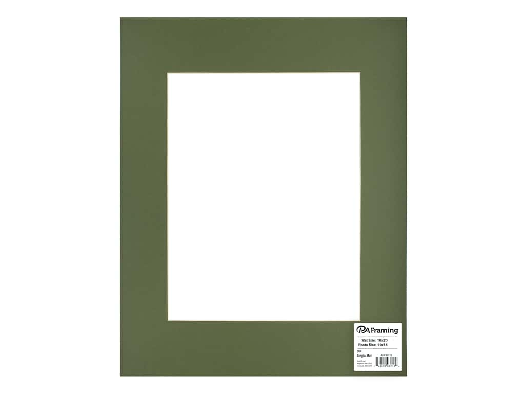 PA Framing Pre-cut Photo Mat Board Cream Core 16 x 20 in. for 11 x 14 in. Photo Dill