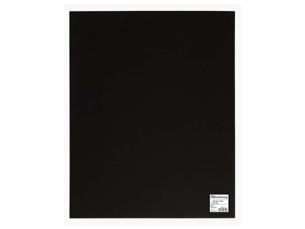 PA Framing Photo Mat Board Uncut 16 x 20 in. White Core Black 3 pc.