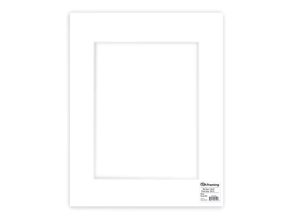 PA Framing Pre-cut Photo Mat Board White Core 14 x 18 in. for 10 x 13 in. Photo White