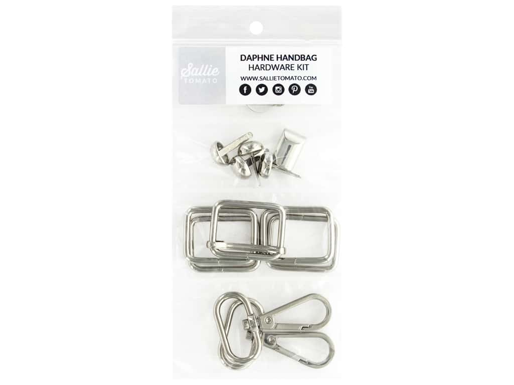 Sallie Tomato Hardware Daphne Handbag Kit Silver/Nickel