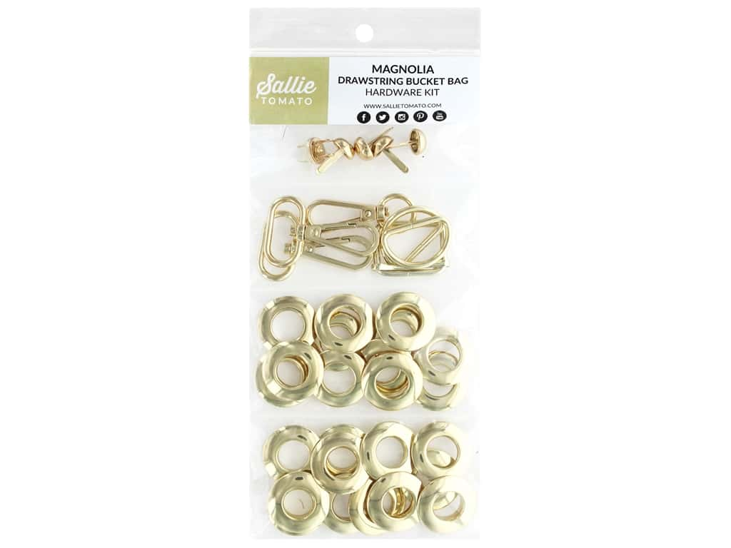 Sallie Tomato Hardware Magnolia Drawstring Kit Gold