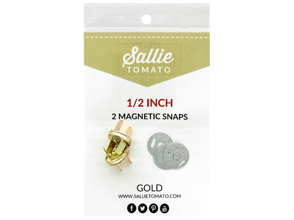 Sallie Tomato Hardware Magnetic Snap .5 in. Gold