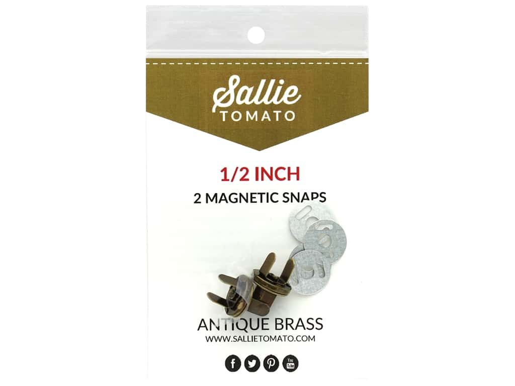 Sallie Tomato Hardware Magnetic Snap .5 in. Antique
