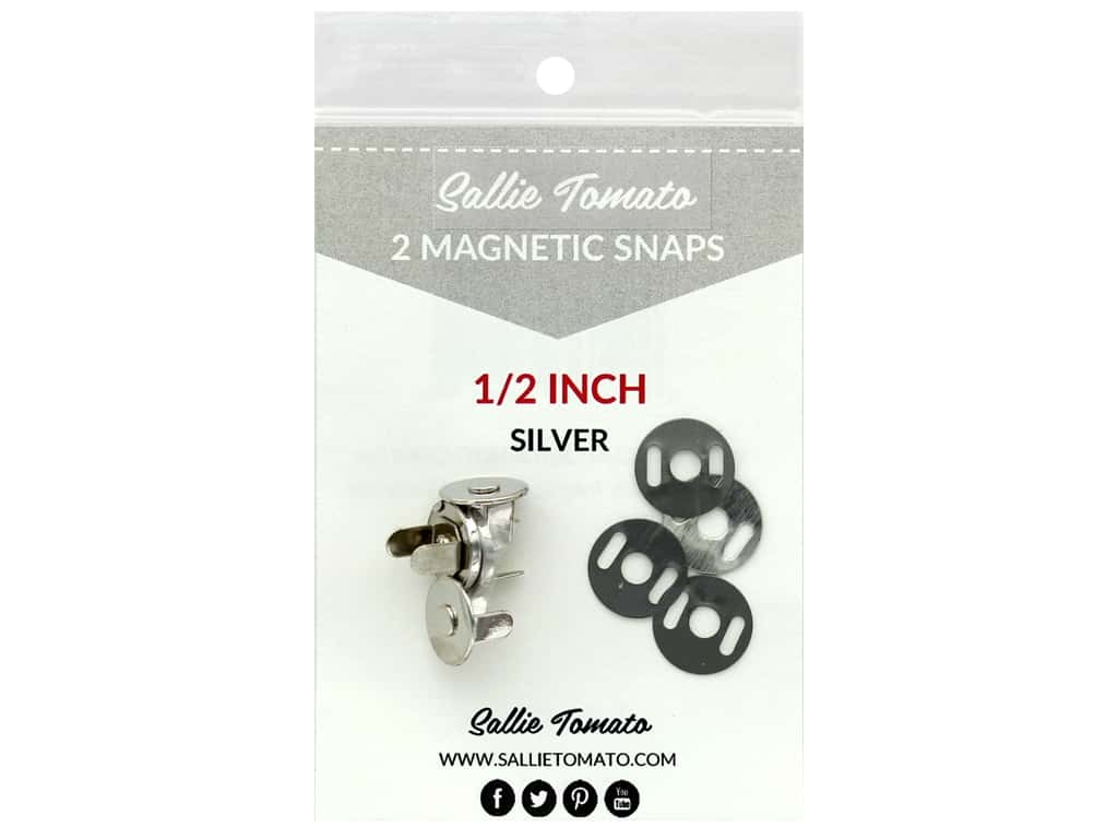 Sallie Tomato Hardware Magnetic Snap .5 in. Silver/Nickel