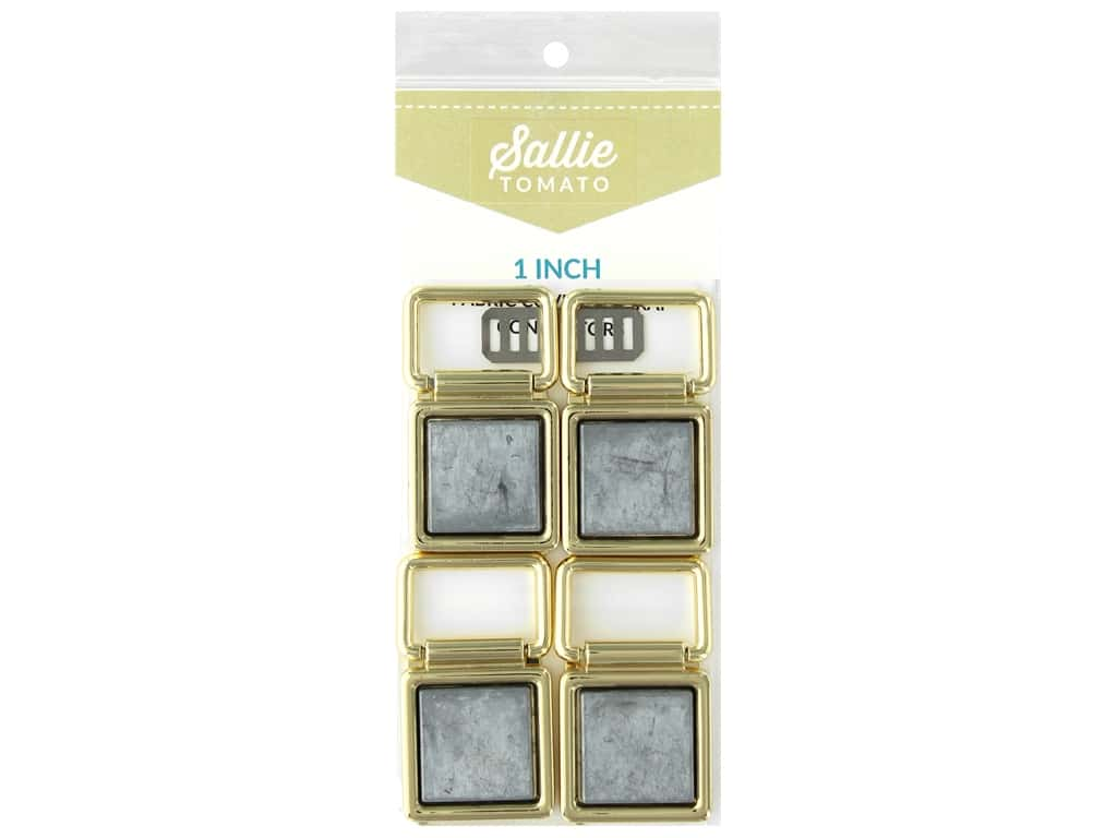 Sallie Tomato Hardware Fabric Cover Strap Connectors 1 in. Gold