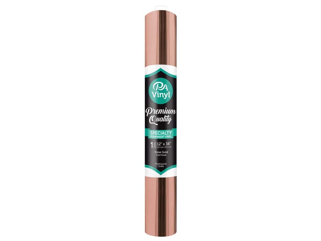 PA Adhesive Vinyl 12 x 36 in. Permanent Foil Rose Gold