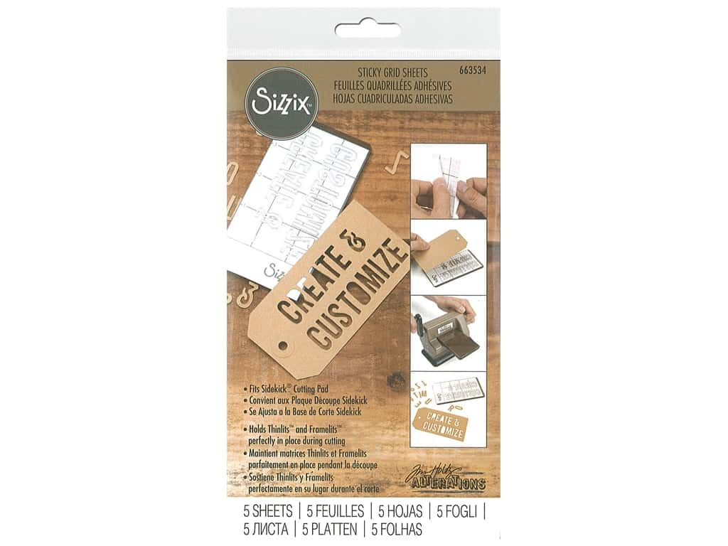 Sizzix Sticky Grid Sheets 2 5/8 x 4 5/8 in. 5 pc.