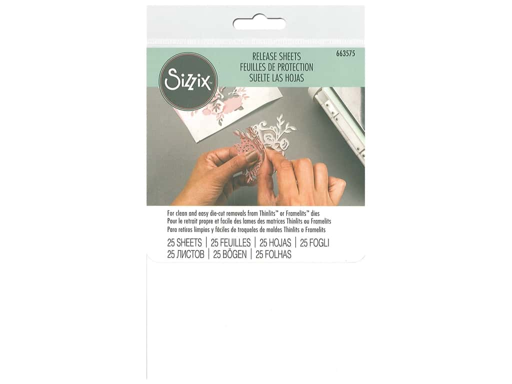 Sizzix Release Sheets 4 x 6 in. 25 pc.
