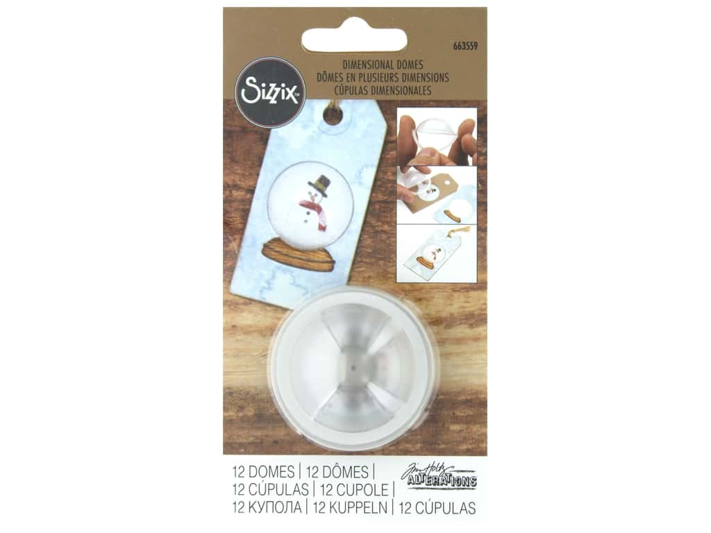 Sizzix Making Essentials Dimensional Domes 12 pc.