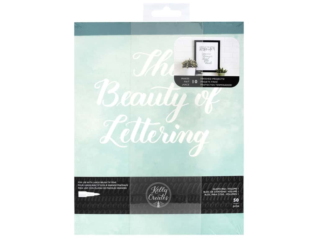 American Crafts Collection Kelly Creates Quote Pad Beauty Of Lettering Volume 1