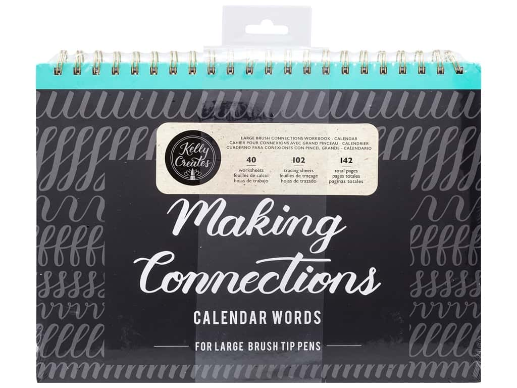 American Crafts Collection Kelly Creates Workbook Making Connections Calendar Words For Large Pen