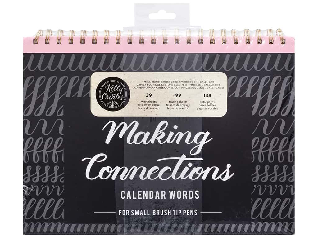 American Crafts Collection Kelly Creates Workbook Making Connections Calendar Words For Small Pen