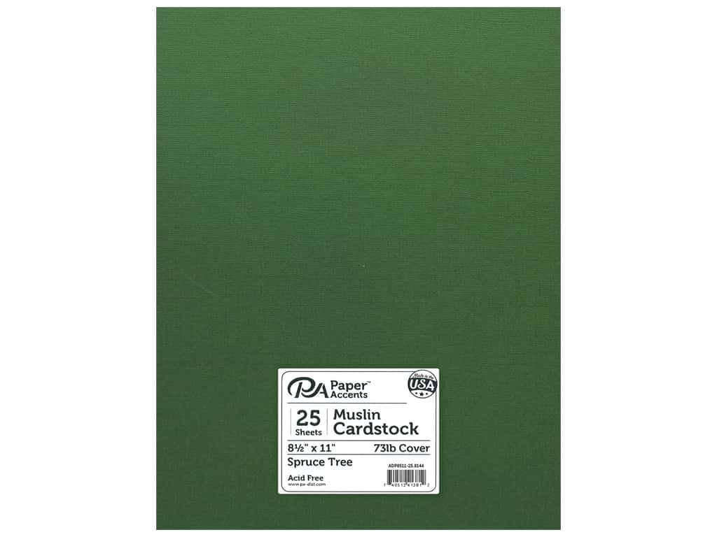 Paper Accents Cardstock 8 1/2 x 11 in. #8144 Muslin Spruce Tree 25 pc.