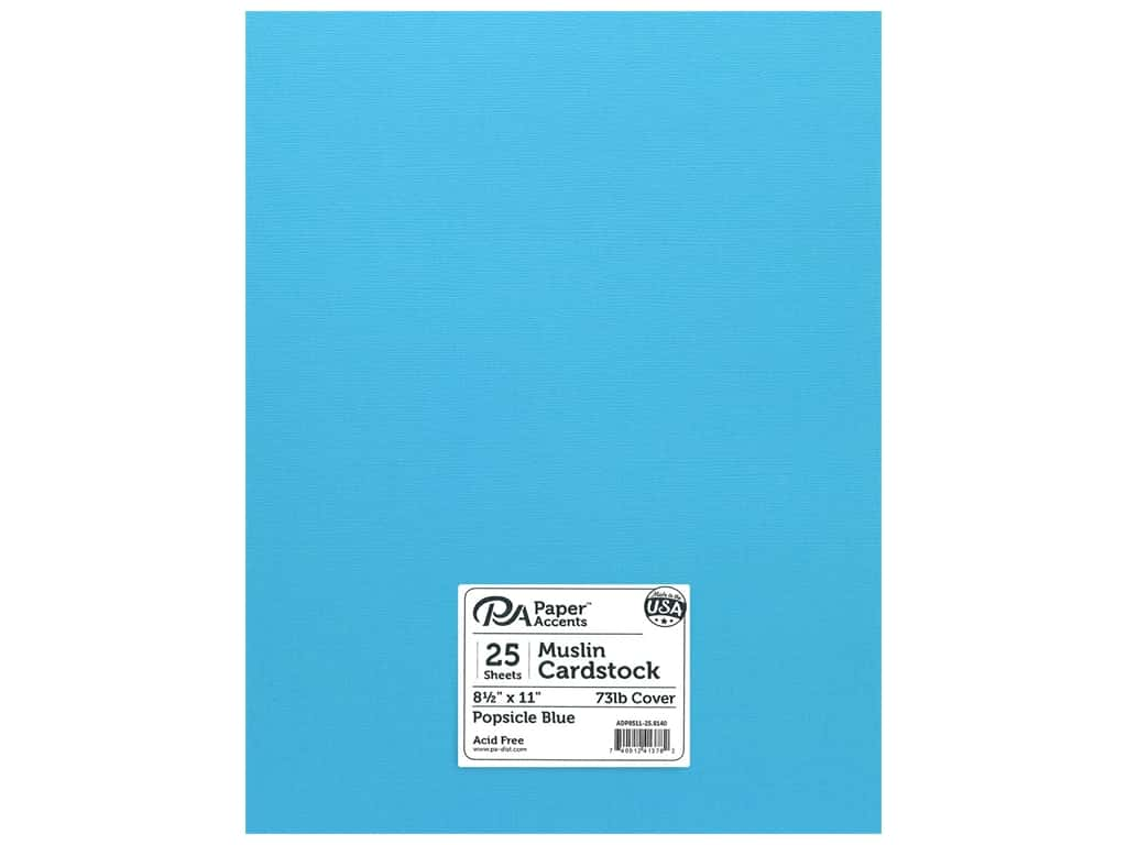 Paper Accents Cardstock 8 1/2 x 11 in. #8140 Muslin Popsicle Blue 25 pc.