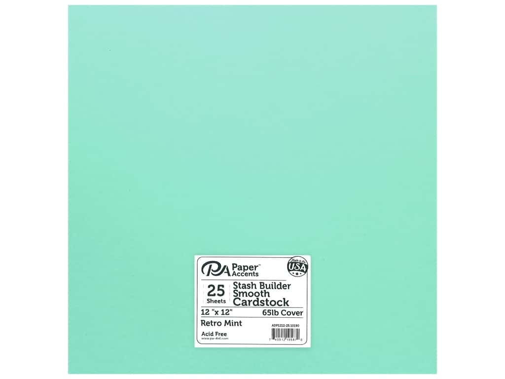 Paper Accents Cardstock 12 in. x 12 in. Stash Builder 65 lb Retro Mint (25 sheets)