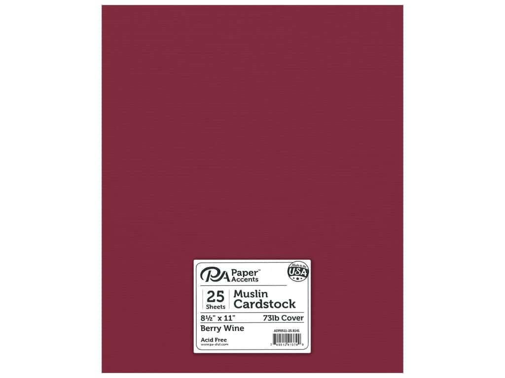 Paper Accents Cardstock 8 1/2 x 11 in. #8141 Muslin Berry Wine 25 pc.
