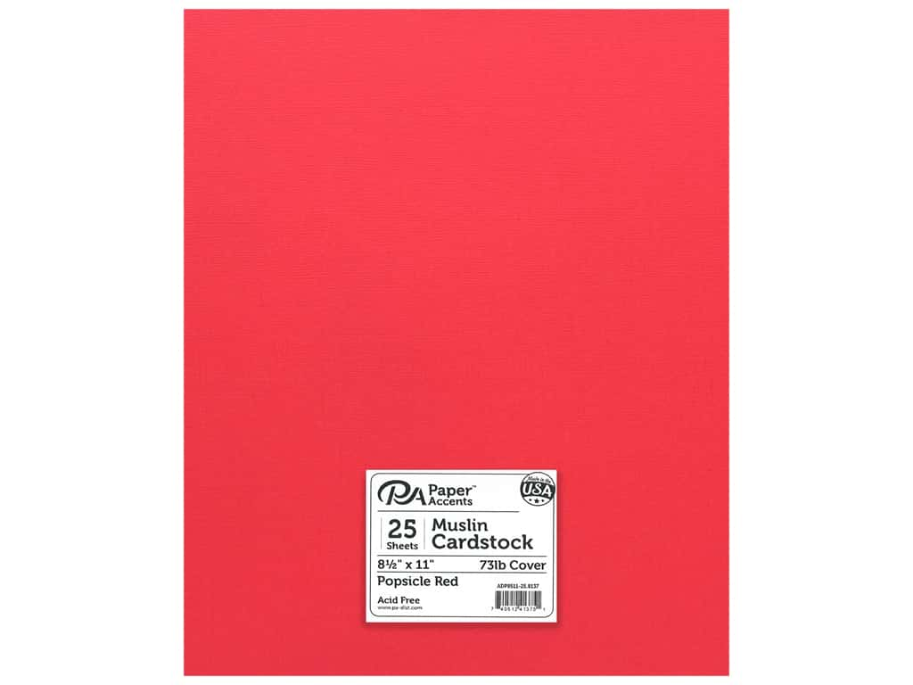 Paper Accents Cardstock 8 1/2 x 11 in. #8137 Muslin Popsicle Red 25 pc.