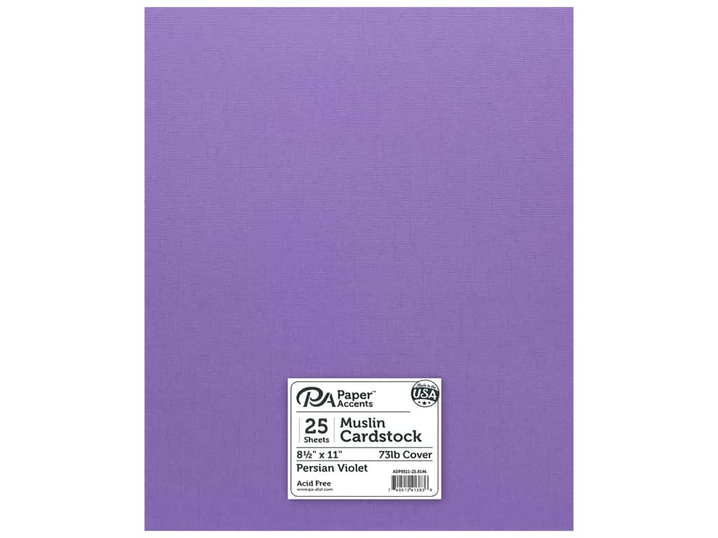 Paper Accents Cardstock 8 1/2 x 11 in. #8146 Muslin Persian Violet 25 pc.