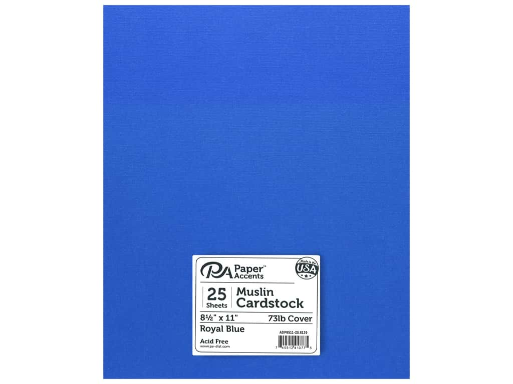 Paper Accents Cardstock 8 1/2 x 11 in. #8139 Muslin Royal Blue 25 pc.