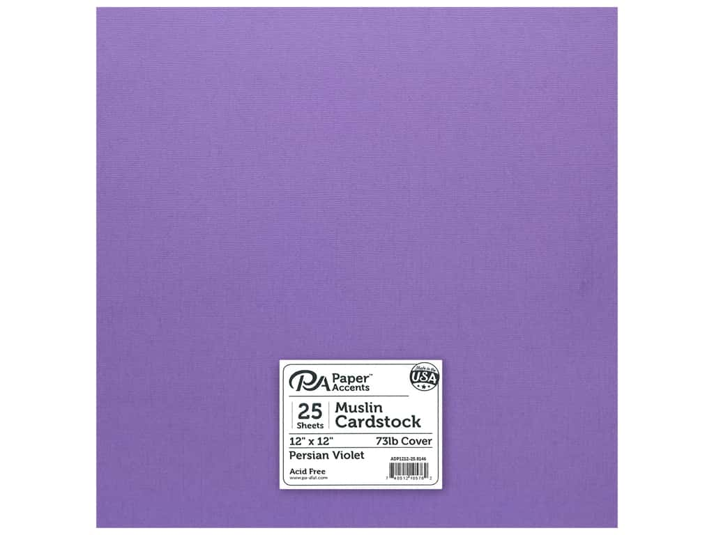 Paper Accents Cardstock 12 x 12 in. #8146 Muslin Persian Violet 25 pc.
