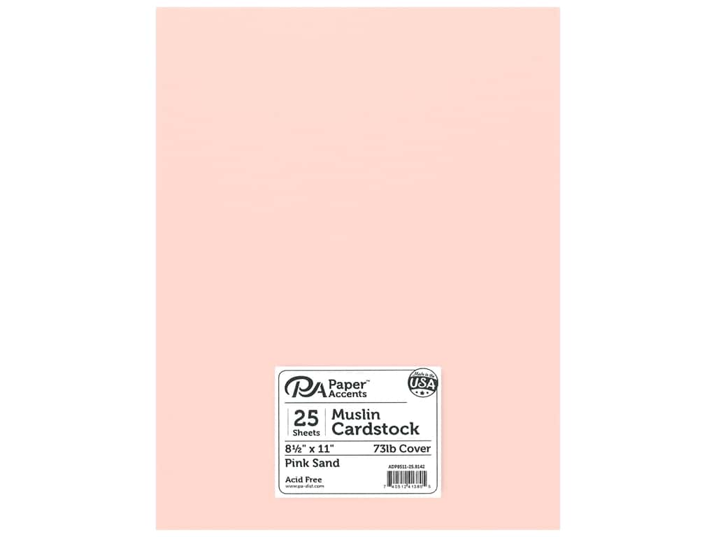 Paper Accents Cardstock 8 1/2 x 11 in. #8142 Muslin Pink Sand 25 pc.