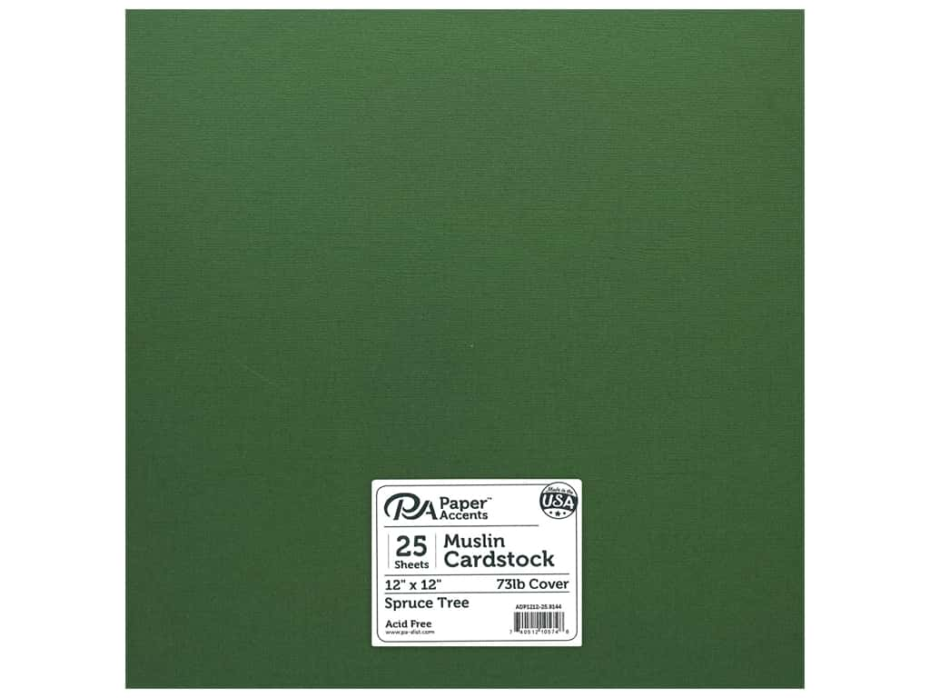Paper Accents Cardstock 12 x 12 in. #8144 Muslin Spruce Tree 25 pc.