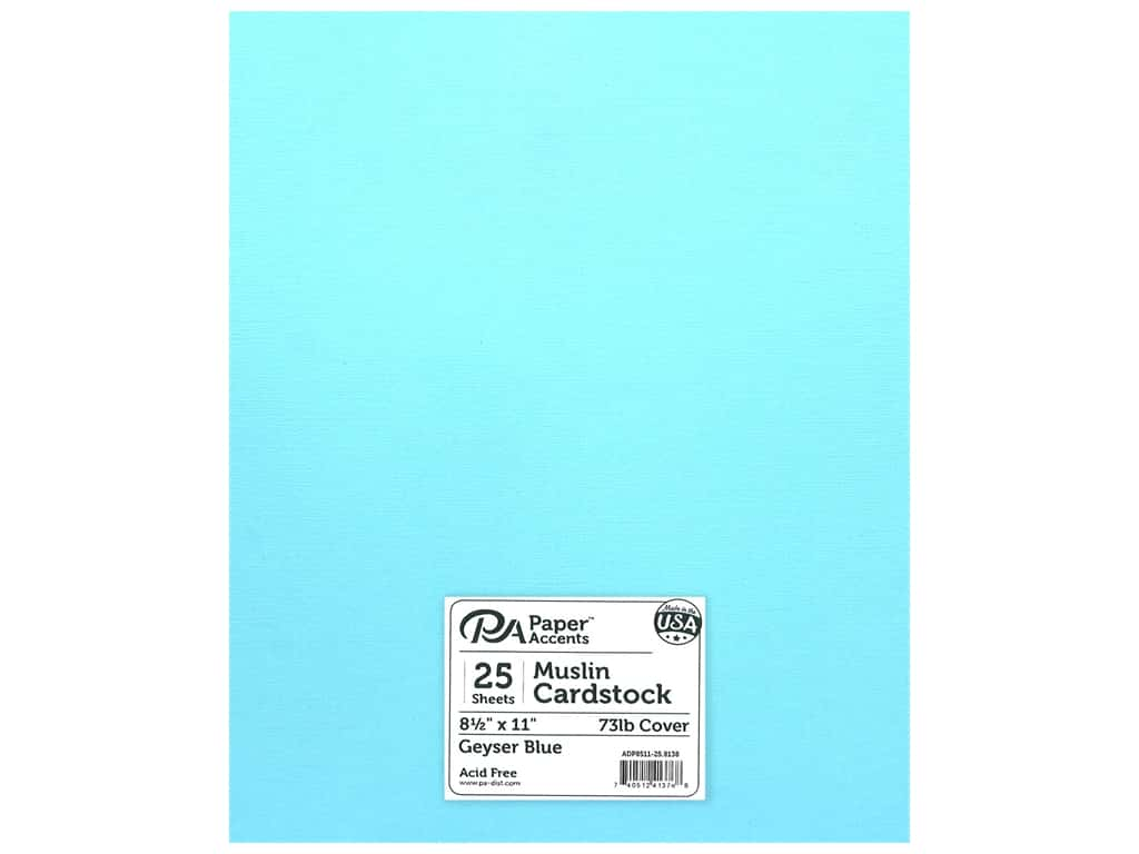 Paper Accents Cardstock 8 1/2 x 11 in. #8138 Muslin Geyser Blue 25 pc.