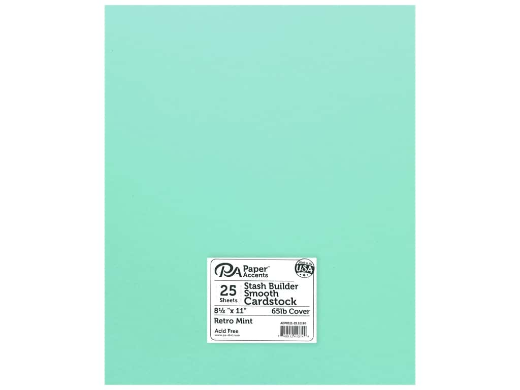 Paper Accents Cardstock 8.5 in. x 11 in. Stash Builder 65 lb Retro Mint (25 sheets)